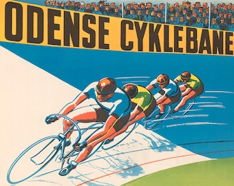 Velodrome Racing Bicycle Poster (#0402) 6 sizes