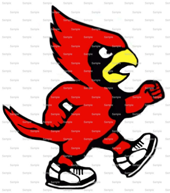 Cardinals Mascot Birthday - Edible Cake and Cupcake Topper For Birthday's and Parties! - D920
