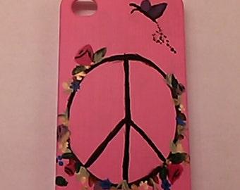 Peace Garden affect- handmade cellphone case