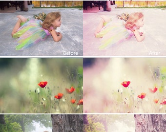 INSTANT DOWNLOAD Violet Bright Photoshop Action