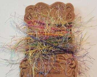 Two Yards Multi Color Jewel Tones Eyelash Trim