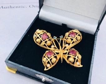 Large Vintage Avon Butterfly Brooch
