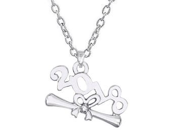 Class of 2018 necklace-Graduation gifts for her