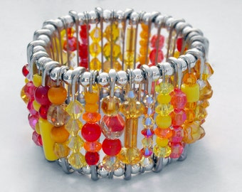 Safety Pin Bracelet - Morning Sunrise