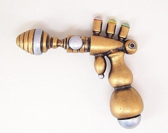 Tri Bolt Defecter Retro Ray Gun FULL Life Size Science Fiction WOOD Replica Prop