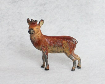 Vintage Metal Reindeer without Antlers Made in Japan, Metal Reindeer Japan 2""