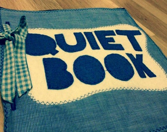 Quiet Book Cover Page - Blue / Green (READY TO SHIP)