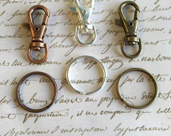 10pc...1.5 inch Swivel Clasp and 25mm..Key Ring Kit