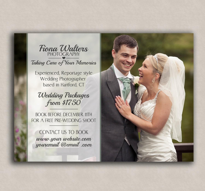 Photoshop Marketing Template, wedding photography flyer ...