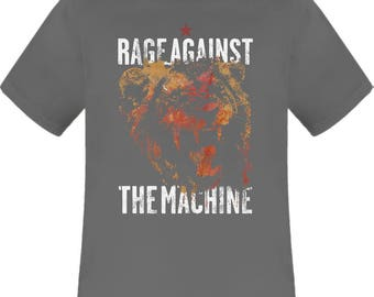 Rage Against The Machine Lion grey charcoal t shirt