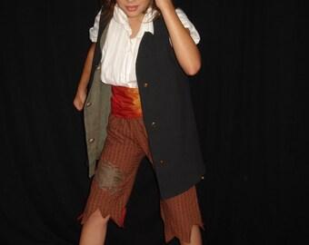 déguisement / costume de pirate, taille 8-10 ans