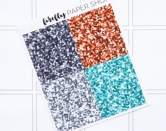 Explore Glitter Headers (stickers for Erin Condren Life Planner - Vertical)