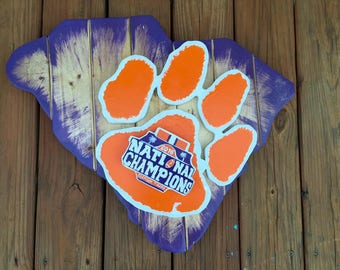 Clemson University National Championship State Plaque