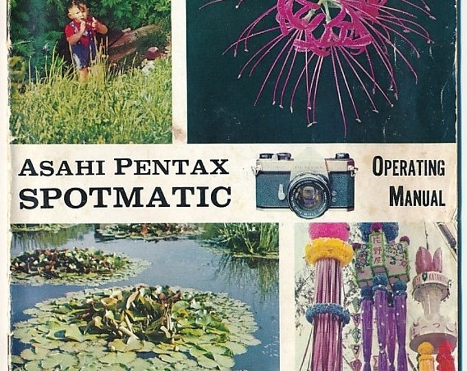 Vintage Asahi Pentax Spotmatic 35 mm SLR Camera Operating Manual c1961 - 20 Pages - Color - B&W - Collectible - Great Gift - Free Shipping!*