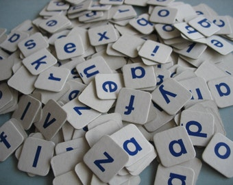 200+ cardboard letters, game pieces for scrapbooking, journaling, crafting - bulk paper scrabble game tiles