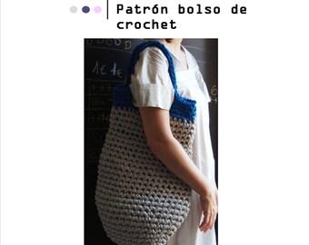 Trapilho bag- PATTERN BAG: Crochet Pattern. PDF. Digital Download