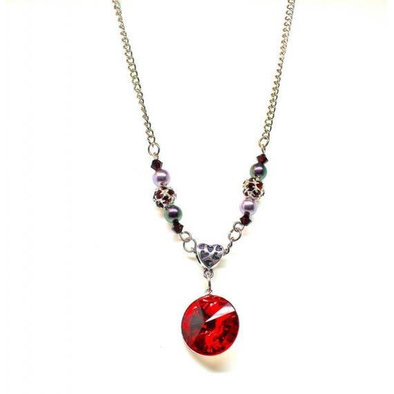 CABOCHON SWAROVSKI collier chic perlé