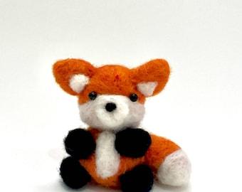 Needle Felted Fox, cute, Woodland