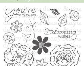 "Digital Stamp Art "" Floral Fusion"""