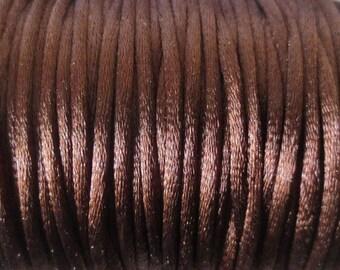 1 M x 2mm chocolate Nylon Rat tail