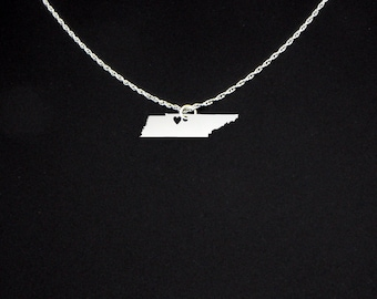 Tennessee Necklace - Tennesse Jewelry - Tennesse Gift