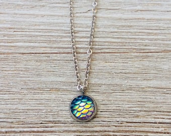 Mermaid Pendant Necklace with Stainless Steel Chain