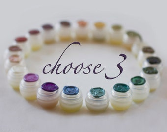 Solid Natural Perfume Sample Set - Nature fragrance, eco luxe for the naturalist, ideal for those sensitive to synthetics. Little Luxuries