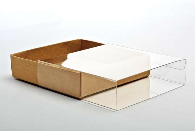 5 kraft paper boxes with clear sleeves a6 size 4 78 x zoom m4hsunfo Image collections