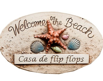 Welcome to the Beach Sign customized with your name or address