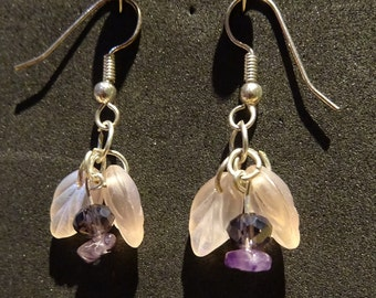 Amethyst Flower Gemstone Earrings