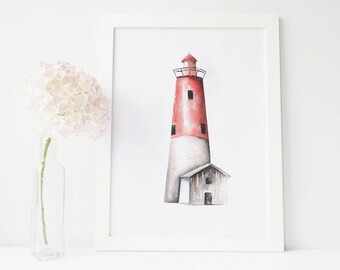 Lighthouse Decor, Bathroom Wall Decor, Bathroom Wall Decor Printable,  Bathroom Wall Decor Rustic