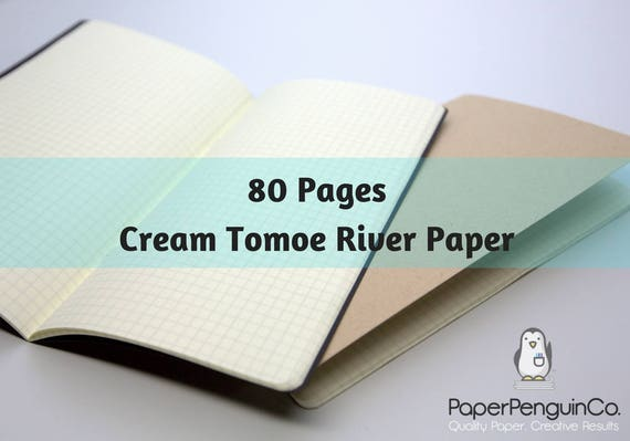 Midori Insert 80 Pages Cream Tomoe River Paper Travelers Notebook Black Brown Regular A5 Wide B6 Personal A6 Pocket FN Passport Mini Micro