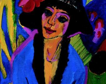 Ernst Ludwig Kirchner: Portrait of Gerda. Fine Art Print/Poster (00494)