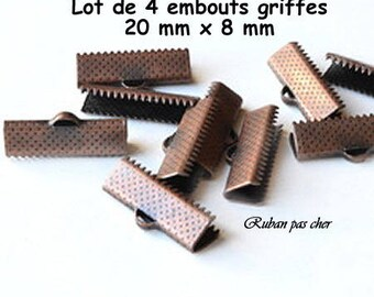 4 caps claw finish - copper - 20 mm x 8 mm - not cheap