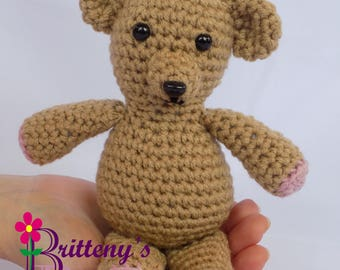 Teddy Bear  Teddy Bear Stuffed Animal  Crochet Teddy Bear Stuffed Animal  Crochet Plush Teddy Bear Toy  Teddy Bear Snuggly Pal