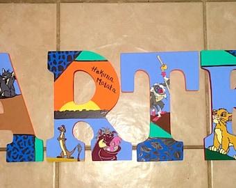 Disney Themed Nursery Letters
