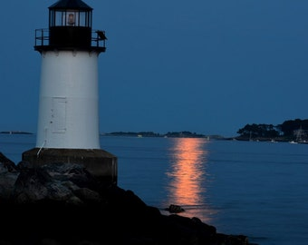 Salem Winter Island moonrise, Salem Photography, Salem MA, Salem Print, Salem Art, Moon Photography, Moon print, Moon Art, Moon decor