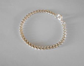 silver plated curb link bracelet