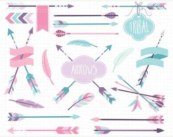 Clipart - Tribal Arrows (2) / American Indian - Digital Clip Art (Instant Download)