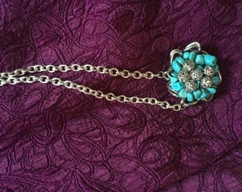 recycled turquois necklace