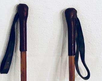 "Vintage Ski poles- 49"" (H)"