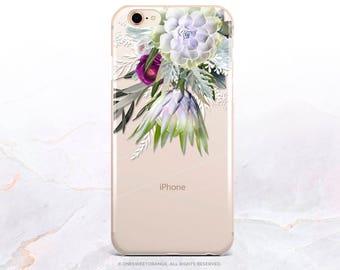 iPhone 8 Case Spring Floral iPhone X Case iPhone 7 Case Clear GRIP Rubber Case iPhone 7 Plus Clear Case iPhone SE Case Samsung S8 Case U104