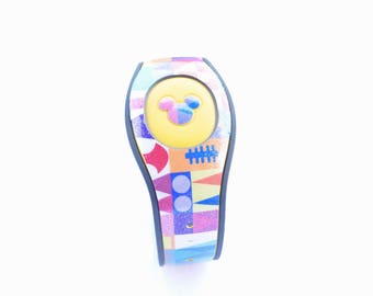 Small World Magic Band 1.0 or 2.0 Decal | Custom Waterproof MagicBand Skin  | RTS Ready To Ship | Glitter MagicBand Decals
