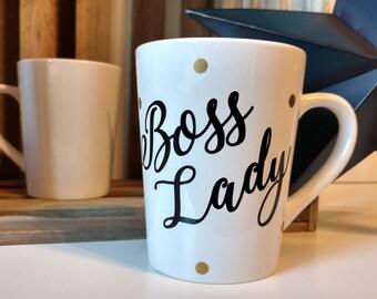 Boss Lady // Coffee Mugs with Sayings // Personalized Ceramic Mugs // Tea Cup // Lady Boss