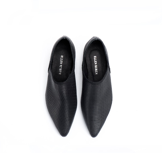 Flats Flat Flat Shoes Leather Shoes Shoes Black Comfortable Shoes Shoes Slip On Women Loafers Women's Shoes Pointed Black Flats wvXtOw