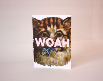 Greeting card : Woah.
