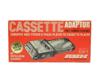 Vintage Audiovox AVX Eight 8 Track To Cassette Tape Adaptor Converter CA-1 Japan Original Box