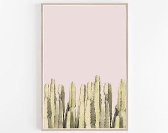 Cactus Print,Pink Wall Art,Cactus Wall Art,Cactus Decor,Cacti,Wall Art,Cactus Art,Cactus Poster,Desert Print,Desert Wall Art,Printable Art
