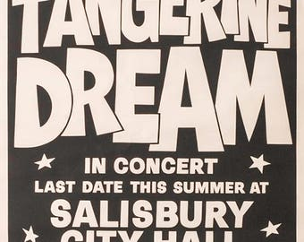 TANGERINE DREAM Concert Poster - Giclee Reproduction Full Colour Print