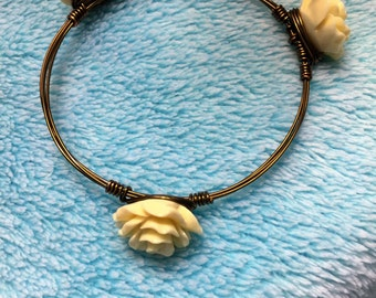 Lovely handmade rose bangle